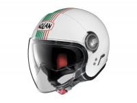 Helmet -NOLAN, N21 Visor Joie de Vivre- open face helmet, metallic white - green - S (56cm)
