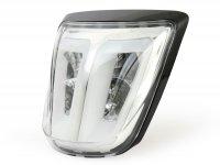 Rücklicht -POWER 1 LED Tube- Vespa Primavera, Sprint - Klarglas / Rahmen schwarz glänzend