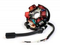 Zündung -BGM PRO Grundplatte HP V2.5 Silikon- Vespa PK XL - 5-Spulen, 8-Kabel (Rundstecker mit 5-Pin) - für Fahrzeuge mit Batterie
