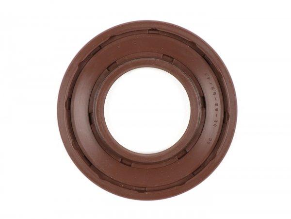 Wellendichtring 31x62,1x5,8/4,3mm -BGM PRO FKM/Viton® (E10 beständig) Gummi, braun - verwendet für Kurbelwelle Antriebseite Vespa PX (-1984), Rally180 (VSD1T), Rally200 (VSE1T), Sprint Veloce 150 (VLB1T, 294260-), Super150 (VBC1T, 412374-), TS (