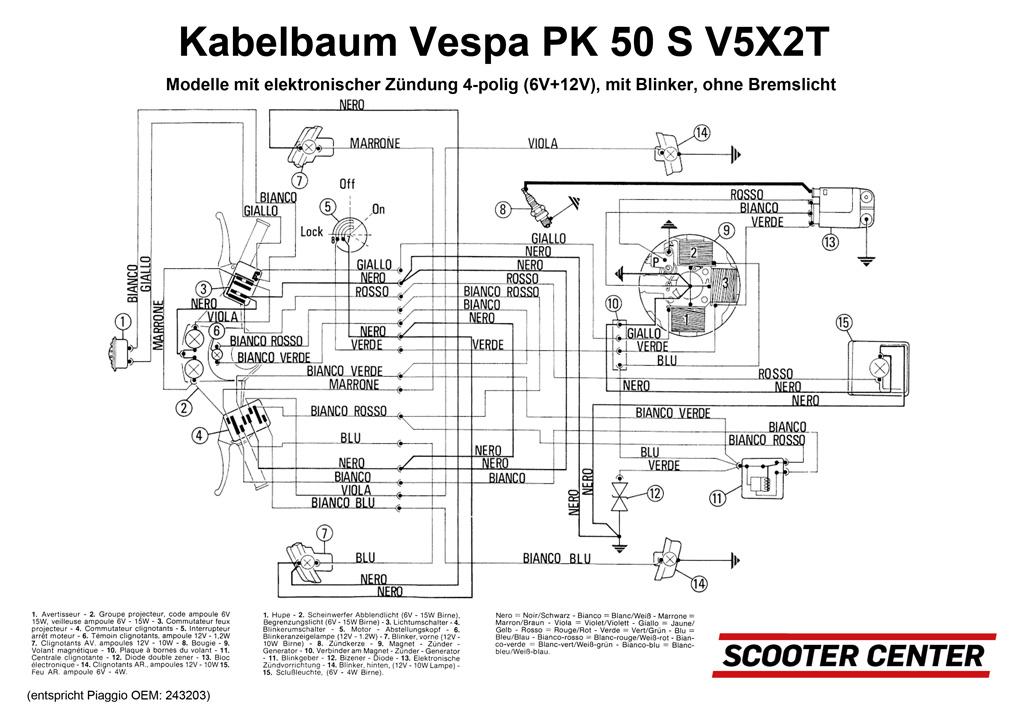 kabelbaum vespa vespa pk 50 s v5x2t modelle mit. Black Bedroom Furniture Sets. Home Design Ideas