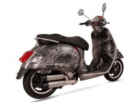 Exhaust -REMUS RSC Dual Flow- Vespa GTS 125ie Super, Vespa GTS 250ie (2005-), Vespa GTS 300ie (2008-), Vespa GTS 300ie Super (2008-), Vespa GTV 250ie (2006-) - stainless steel, silver