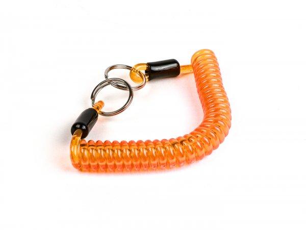Key ring -MOTO NOSTRA Spiral- length 150mm - orange