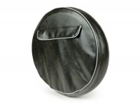 Spare wheel cover -UNIVERSAL- 3.50 - 10 - black, with pouch - grey piping