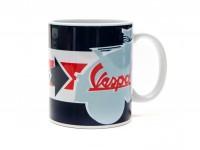 Tasse - Kaffeebecher -FORME- Vespa, Servizio - blau mit Pfeil