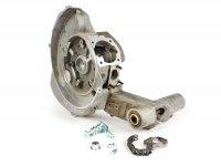 Carter motore incl. adattatore cavo cambio (realizzato da KR Automation) -LML SF125 per Vespa V50, V90, PV, ET3, PK S, PK XL, PK XL2, ETS, Motovespa PK75 (collettore aspirazione 3 fori, cambio a due cavi)