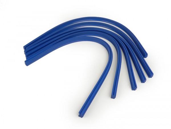 Floor board rubber -SKY- Vespa Rally180 (VSD1T), Rally200 (VSE1T), Sprint150 (VLB1T), GT125 (VNL2T), GL150 (VLA1T), TS (VNL3T) - blue