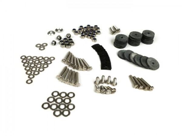 Footboard stip set fastener kit -MB DEVELOPMENTS stainless steel- Lambretta LI (Series 1-2), TV (Series 2)