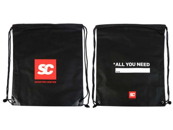 "Sac de courses - Sac de sport - Nylon -SCOOTER CENTER ""ALL YOU NEED"" 40x50cm- noir"