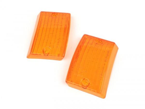 Blinkergläser -BOSATTA 2er Set- Vespa PK50 S, PK80 S, PK125 S vorne - orange