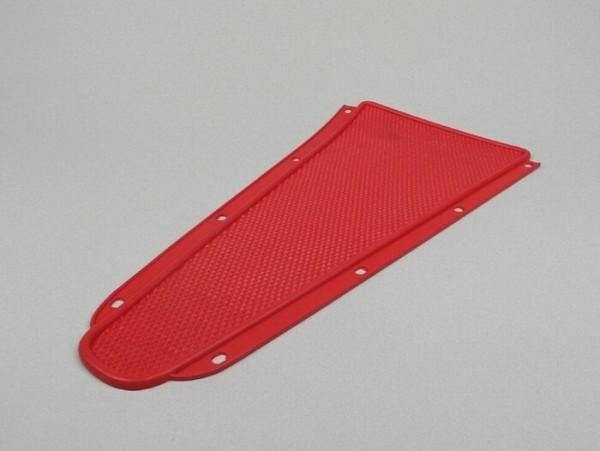 Alfombrilla suelo central -CALIDAD OEM- Vespa Rally180 (VSD1T), Rally200 (VSE1T), Sprint150 (VLB1T), TS125 (VNL3T), GT125 (VNL2T), GTR125 (VNL2T), SS180 (VSC1T), GS160 / GS4 (VSB1T), Super, VNA, VNB, VBA, VBB - rojo