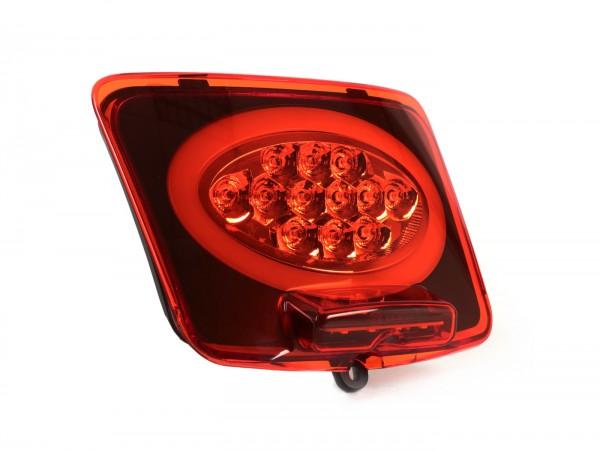 Piloto trasero -MOTO NOSTRA, LED, SLIMSTYLE- Vespa GTS 125-300, GTV (2014-2018, Facelift) - rojo