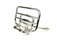 Rear rack, fold down -PIAGGIO HQ- Vespa GTS, GTS Super - 125-200-250-300cc - chrome - for GTS/Super topcase