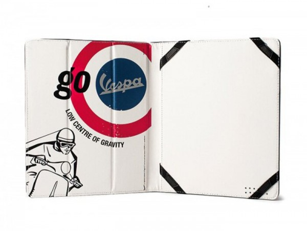"Funda para iPad/tablet -VESPA, 20x24x1,8cm- ""Go Vespa - Low centre of gravity"""