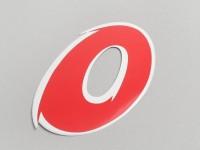Sticker -NUMBER- 0 - red/white