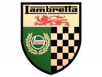 Adesivo -LAMBRETTA Castrol Lambretta checkered 140x170mm-