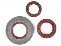 Wellendichtringsatz Motor -BGM PRO, FKM/Viton® (E10 beständig)- Vespa Largeframe PX Lusso (1993-) - PX80, PX125, PX150, PX200, T5 125cc, MY, 98, Cosa, LML125/150 Star (2-Takt), Stella125/150 (2-Takt) - Hinterradwellendichtring 27x42x10mm (Innenmontag