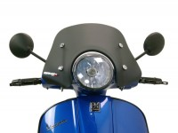 Windschutzscheibe -ERMAX Piccolo- Vespa GT, GTL, GTS -  satin schwarz