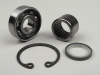 Front hub bearing set (ball bearing and needle roller bearing) -VESPA- PX (-1982) - Ø=16mm