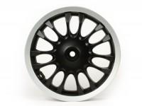 Cerchio ruota posteriore -PIAGGIO 3.00-12 pollici, Ø tamburo freno = 110mm - 14 razze- Vespa Sprint 50 (ZAPC53201) - nero opaco/bordo argento