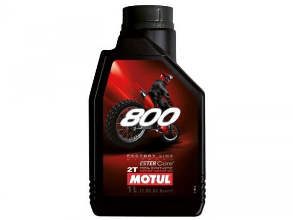 Öl -MOTUL 800 Offroad- 2-Takt vollsynthetisch (einfach Ester) - 1000ml