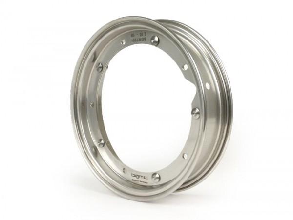 Wheel rim -BGM PRO 2.10-10 inch- Vespa (type PX) - Vespa Smallframe V50, 50N, Special, PV, ET3, PK50-125 (S/XL/XL2), Largeframe PX, T5, Sprint, Rally, GT/GTR, LML Star, Deluxe - stainless steel
