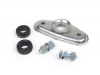 Stoßdämpferaufnahme + Silentgummi-Set Gabel/Stoßdämpfer vorne oben -MADE IN INDIA- Vespa PX80, PX125, PX150, PX200, T5 125cc