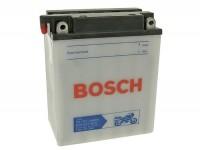 Batterie -Standard BOSCH YB12A-A- 12V 12Ah -134x80x160mm (inkl. Säurepack)