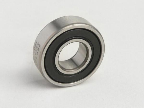 Ball bearing -6202 2RS (both sides sealed)- (15x35x11mm) - (used for front wheel/brake drum PX (1982-), T5 125cc, Cosa, PK, Gilera Fuoco, Piaggio Hexagon, MP3, Sfera, SKR, Quartz, Zip SP, Vespa ET2, ET4, GT125, GTS, GTV, LX