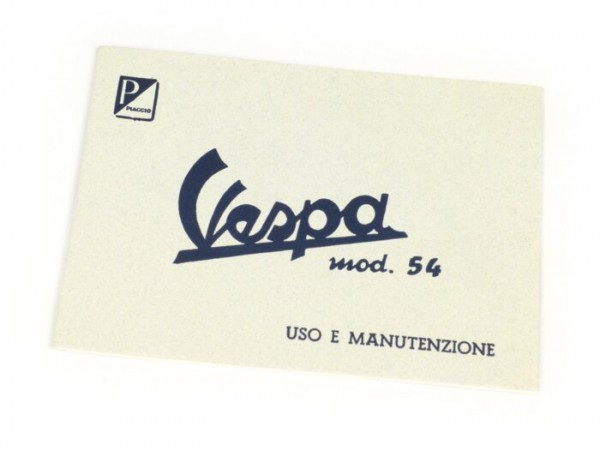 Owner's manual -VESPA- Vespa 125 (1954)