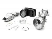 Kit carburateur -POLINI 2 goujons, 19mm Dellorto SHB, boite à clapets- Vespa PK S