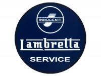 Aufkleber -LAMBRETTA Innocenti Lambretta Service Ø=75mm- Blau