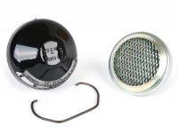 Air filter complete -DELLORTO, round Ø56mm, for SHA14- Piaggio Ciao - incl. plastic cap and wire bracket