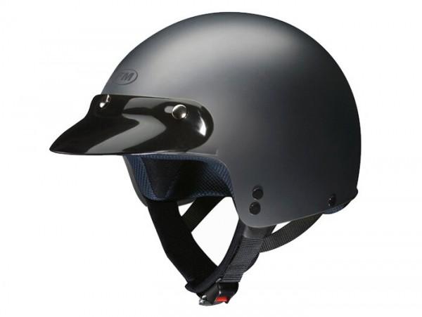 Helm -FM-HELMETS RS11P (Made in Italy)- Jethelm schwarz matt - XS (53-54 cm)