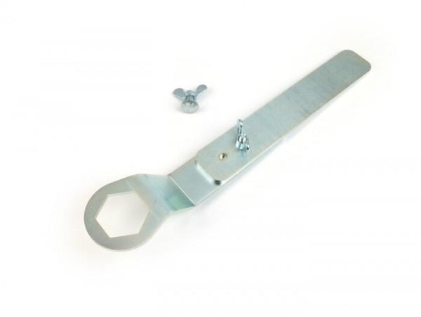 Dispositivo de fijación rotor volante -BGM PRO electrónico- Lambretta LI, LIS, SX, TV, GP, DL - tornillo eje motor 21,5cm + 29cm