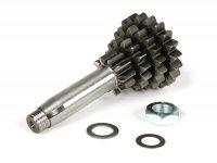 Nebenwelle -POLINI- Vespa V50, PV125, ET3, PK50, PK80, PK125 S-XL - 10-14-17-20 Zähne (verwendet mit original Getriebe, verkürzt den dritten und vierten Gang)