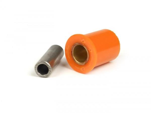 Silentblock-Set Stoßdämpfer/Motor -PLC CORSE- Vespa Largeframe, Smallframe  - M9, l=46mm, 65 shore