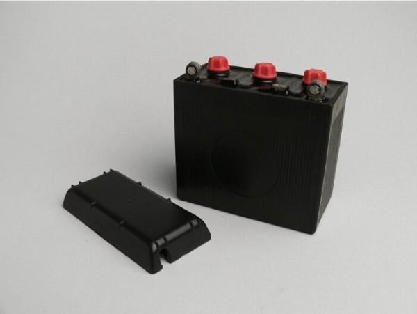 Batterie -Standard 6N11A-3A- 6V 11Ah - 122x62x132mm - Vespa 150 (T2, T3), Vespa GS150 / GS3 (VDTS - deutsche Modelle), V50 Special Elestart (2x benötigt) - (ohne Säure)