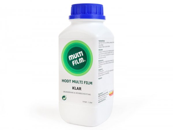 Spray wax, hardening and crystal clear  -HODT MULTI FILM Klar-  spray can 1000ml spray, brush or dip