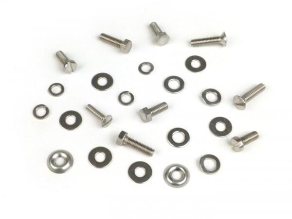 Horn cover fastener kit -MB DEVELOPMENTS stainless steel-Lambretta LI (Serie 1-2), TV (Serie 1-2)