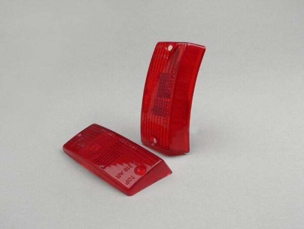 Blinkergläser -BOSATTA 2er Set- Vespa PX80, PX125, PX150, PX200, T5 125cc vorne - Rot