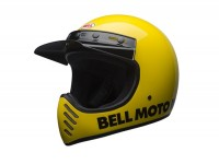Casque -BELL MOTO-3 Classic Yellow 17- casque cross, jaune - XL (61-62 cm)