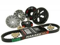 Kit variador -NARAKU- CPI 50cc, Keeway 50cc, Generic 50cc, 1E40QMB - correa de transmisión l=788mm
