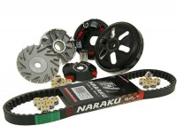 Variator-Set -NARAKU- CPI 50 cc, Keeway 50 cc, Generic 50 cc, 1E40QMB - 788mm V-belt