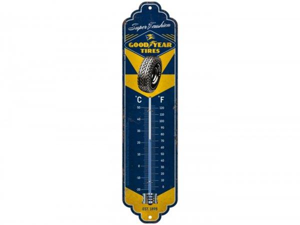 "Thermometer -Nostalgic Art- ""Goodyear - Super Cushion"", 65x280mm"