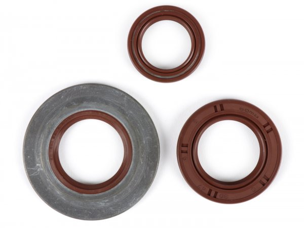 Oil seal set engine -BGM PRO, FKM/Viton® (E10/etahnol resistant)- Vespa Largeframe PX EFL (1984-1993) - PX80, PX125, PX150, PX200, T5 125cc, Cosa - rear hub oil seal 30x47x6mm (external)