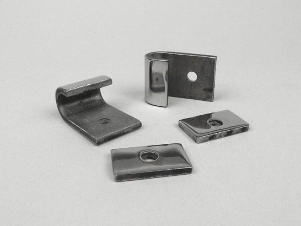 Kit soportes caballete central -LAMBRETTA- LI (serie 2, serie 3, 10.1959-), LIS, SX, TV (serie 2, serie 3, 10.1959-), DL, GP - acero inoxidable