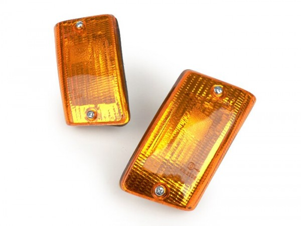 Blinker-Set -BOSATTA 2er- Vespa PK50 XL, PK125 XL hinten - orange