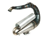 Exhaust -LUDWIG & SCHERER -Franz with bolt on muffler- for Polini 133, Quattrini M1L, Malossi 136 (52-58mm exhaust stud width)- VespaET3, PV125 - version for scooters without tool box