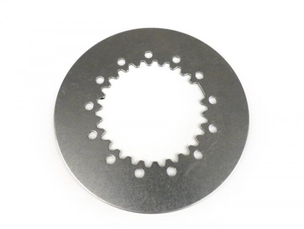 Clutch steel plate -BGM ORIGINAL, Vespa type 6 springs- Vespa PX80, PX125, PX150, TS, Sprint, GT, GTR, Super, GL, GS150 (VS5T), VNA2T (081469-), VNB, VBA, VBB  - 1.5mm